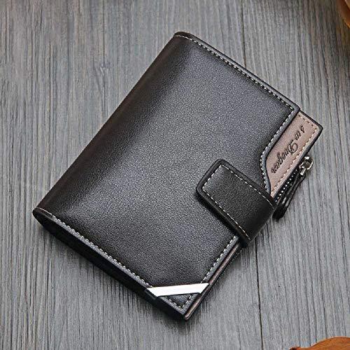 maofan Koreanische Version Von Lässigen Herren Brieftasche, Kurze Multifunktions-Geldbörse, Dreieckige Klapp-Reißverschluss-Karte Tasche Braun