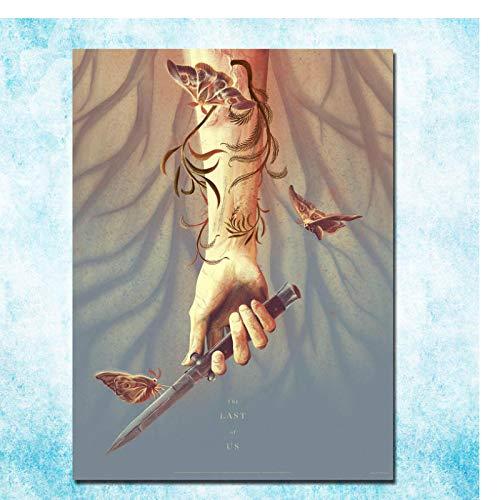The Last Of Us Hot Game Art Poster Impresión en lienzo Pintura Arte de la pared Imágenes para la decoración del dormitorio de la sala de estar-50x70cm Sin marco