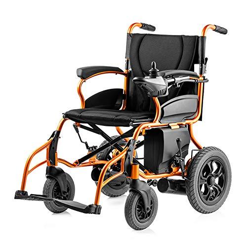 ZZUU Elektrischer Rollstuhl Faltbar, leicht, mit Steckachsensystem Sitzbreite 45 cm Belastbarkeit 120kg,Left