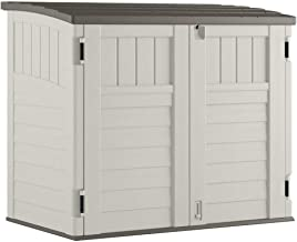 Suncast BMS2500 EMW7321904 Horizontal Outdoor Storage Shed for Backyards a, Vanilla
