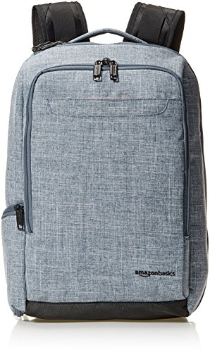 Amazon Basics Schlanker Reiserucksack, Denim - Overnight