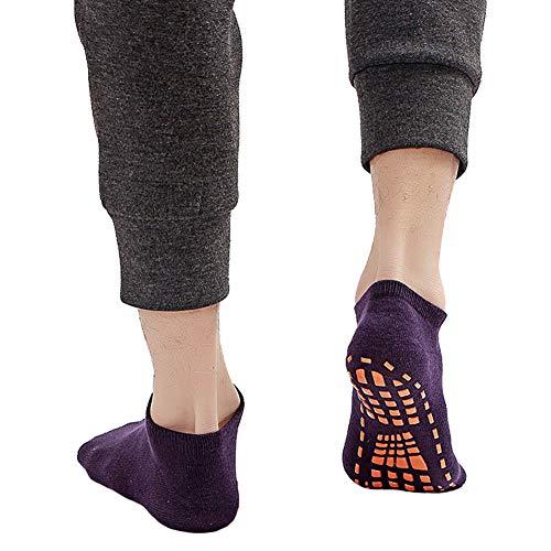 Zachte volwassen Casual Sokken, 2 Stks Volwassen Kinderen Katoen Anti-slip Trampoline Yoga Fitness Gym Ballet Sokken - Gras Groen M