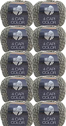 Lana Grossa 4 Capi Color 103 - Gomitolo di lana da 500 g, 10 x 50 g