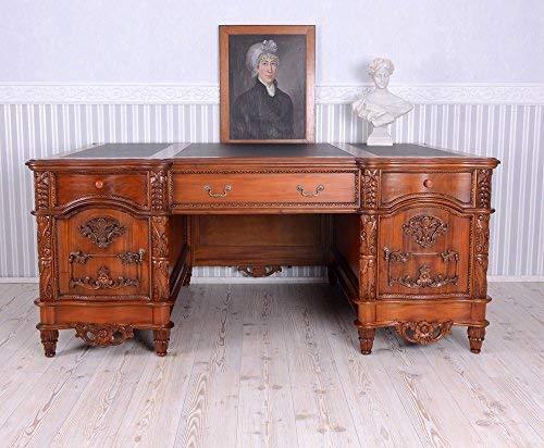 Englischer Chefschreibtisch Mahagoni XXL Schreibtisch Büromöbel Antik mar084 Palazzo Exclusiv