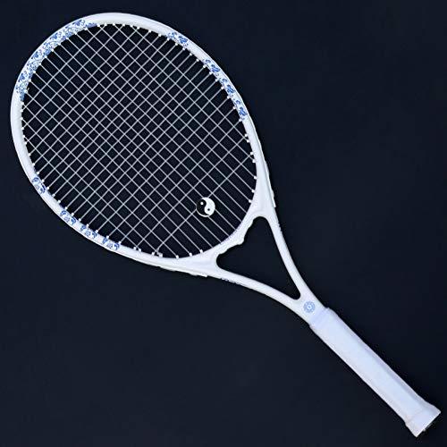 MLPNJ Raqueta de Tenis Profesional de Fibra de Carbono para Adultos 50-55LBS Raqueta Bolsa de Entrenamiento Deportivo Raquete Padel String Hombres Mujeres