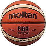 MOLTEN BGMX Balón de Baloncesto, Hombre, Naranja y Marrón Claro, Talla 7