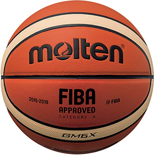 Molten X-Indoor/Outdoor Basketball, FIBA Approved – BGMX, Orange/Braun, 6
