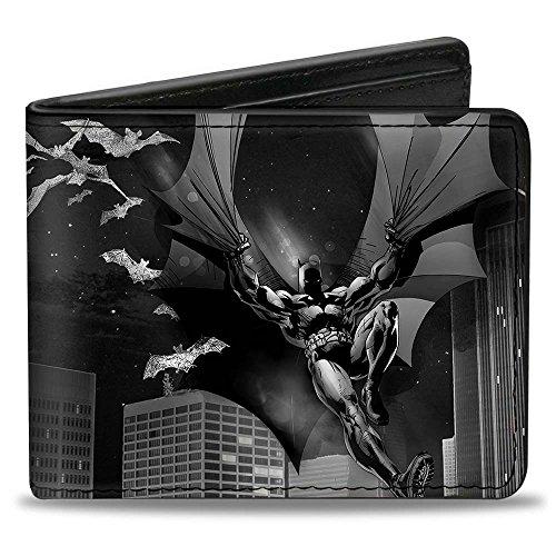 Buckle-Down Unisex-Erwachsene Bifold Wallet Batman Zweifalten-Geldbörse, Mehrfarbig, 10.1 cm x 8.89 cm