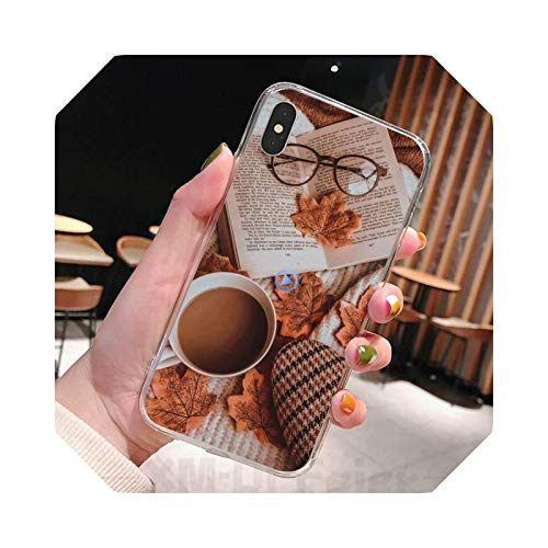 Aesthetic Relaxing Afternoon Tea - Carcasa transparente para iPhone 11 12 Pro Max XR X 7 8 PLUS-a13-for 12Promax (6.7)