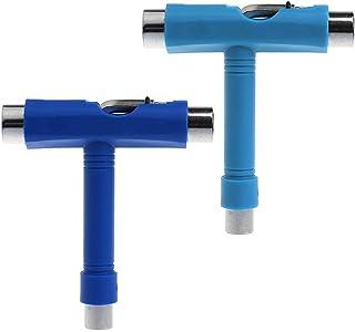 LILASTORE Roller Skate Wrench Skateboard T Shape Tool Universal Multi-Function Key Random Color New