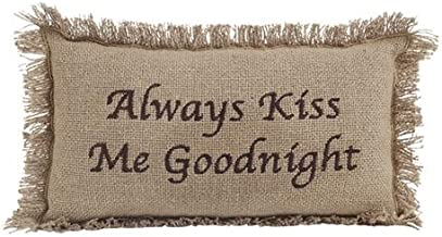 VHC Brands 6166 Burlap Natural Always Kiss Me Goodnight 7