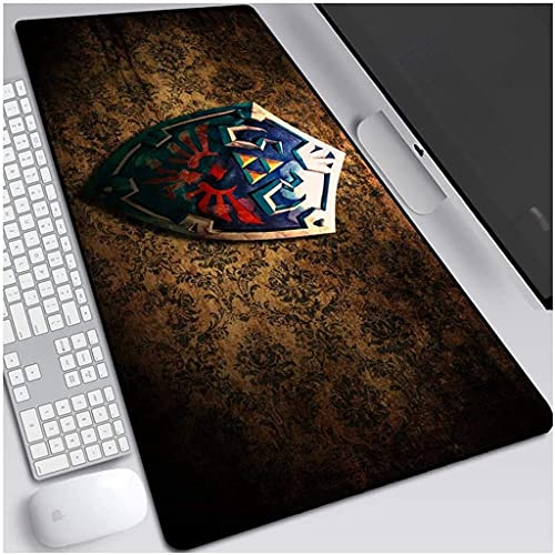 The Legend of Zelda - Alfombrilla de ratón grande para juegos, alfombrilla para teclado de café, alfombrilla para computadora de escritorio y PC (color: 3, tamaño: 600 x 300 x 3 mm)