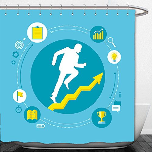 Interestlee Shower Curtain flat design colorful vector illustration concept for personal development professional growth 239723353