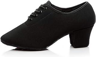 HROYL Uomo e Donna Danza de Sneakers Panno di Oxford Prestazioni di Sala da Ballo Jazz Quickstep Waltz Professionals,WZSP-...