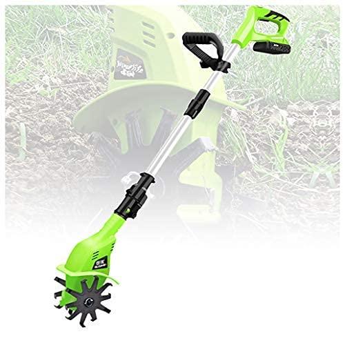 YIHGJJYP Desbrozadora eléctrica pequeña de 20 V 4000 Mah, máquina de Puesta a Tierra, Excavadora, cultivador Giratorio, cultivador de Litio, cultivador