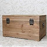 YLJR Caja de almacenamiento de madera maciza de estilo shabby chic artesanal   Caja portaobjetos de madera de pino Hobby para la casa