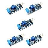 REES52 5 Pcs SW-420 NC Type Vibration Sensor Module Vibration switch for Arduino