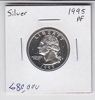 1995 S Washington SILVER Proof Quarter Coin Quarter Choice Uncirculated