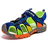 Boys Sandals Closed Toe Toddler Sport Sandals Little Kid Summer Shoes for Big Kid Walking Hiking Outdoor Blue Little Kids 12.5