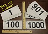 Race official competitor numbers basic tyvek bib numbers - set of 1,000, 1 to 1000 - industry standard tyvek...