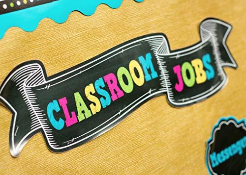 Teacher Created Resources Chalkboard Brights Classroom Jobs Mini Bulletin Board (TCR5653) Photo #3