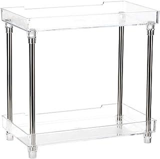 Goolsky Multi-functional 2-Tier Cosmetic Organizer Tray Storage Shelf Caddy Stand for Bathroom Vanity Countertop