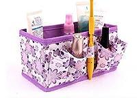 Hommy折りたたみ式 収納袋 おもちゃ タオル 化粧品 小物 収納ケージ カラー:グリーン (紫)