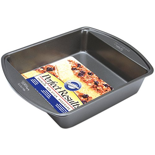 Wilton Perfect Results Premium NonStick Bakeware Square Cake Pan Will Heat Evenly for Years of Quality Baking 8inches