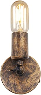 Huahan Haituo Prostota Vintage Industrial Sconce Wall Light E27 Edison Czarny drut Lamp Holder (Zamiatanie złota)