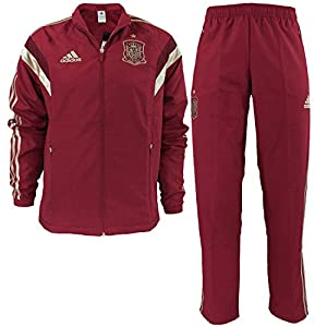 adidas Fef PES Suit Traje de Chándal Selección de España 2016, Hombre, Rojo/Amarillo/Azul, XL: Amazon.es: Deportes y aire libre
