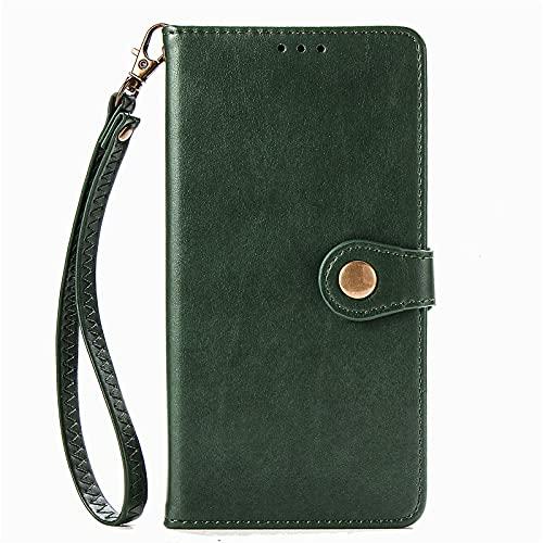 BAILI Funda para LG W31,Ranura para Tarjeta,Soporte Plegable,Funda Tapa Libro Flip Phone Cover Case para LG W31,Verde