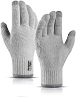 SYOSIN Winter Touch Screen Gloves Warm Knitted Gloves Working Outdoor Skiing Camping Hiking Running Biking Driving for...