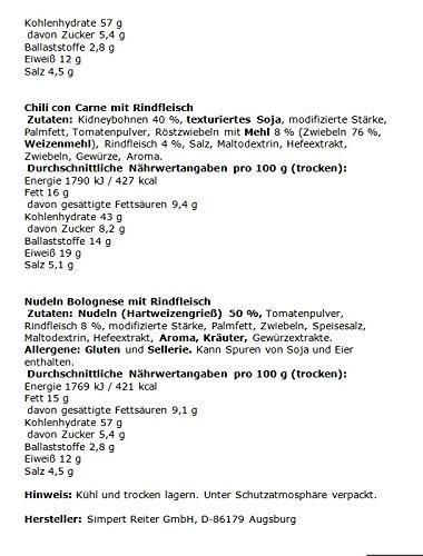 Travellunch Mahlzeiten mit Fleisch, 6 Tüten à 125 g - 3