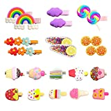 Hair Clips for Girls, 22Pcs Cute Candy Barrettes Fun Dessert Patterns Hair Accessories Pretty Rainbow Hairpins for Toddlers Little Girls Kids