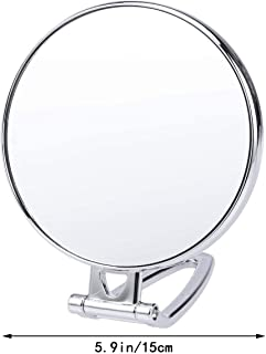 AINIYF Dual Sided Vanity Mirror Swivel Vanity Makeup Mirror Folding Telescopic Magnifier Household Punch-Free Wall Hanging Mirror
