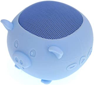 Creative Cute Cartoon Bluetooth Speaker, New Wireless Smart LED Indicator Card Type Bluetooth Speaker,Blue