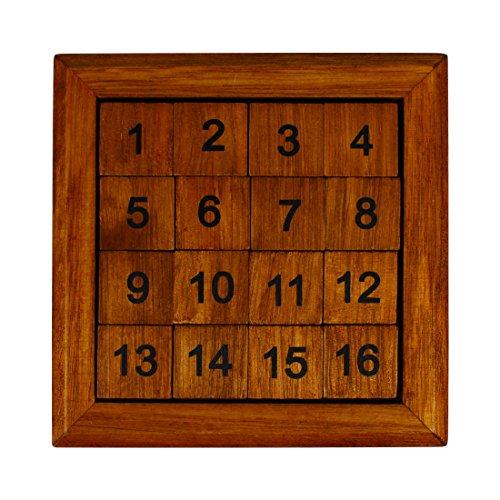 Andux Zone Huarongdao Holz 15 Puzzle Digitaler Block 4x4 Gehirn Spiele SZHRD-01