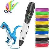 Pluma 3D HebyTinco, Bolígrafo de impresión 3D, Bolígrafo 3D Inteligente con Pantalla LED, Velocidad y temperatura ajustables, compatible con PLA y ABS, Regalos de juguetes de Navidad para niños