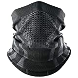 No Fogging Way (Air hole): This neck gaiter face mask features a mesh vent that allows you to breathe easily, keeping the face dry and comfortable. Best of all, no fogged up ski goggles or glasses. The Right Fit: Made with a stretchy 95%Polyester & 5...