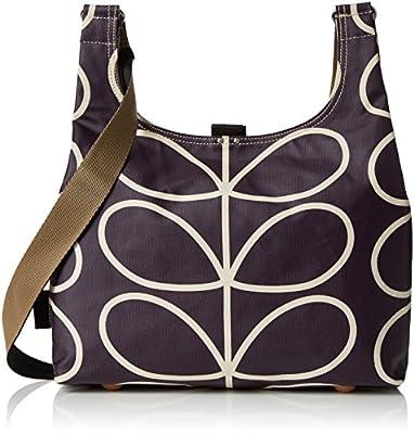 Orla Kiely Matt Laminated Linear Stem Print Midi Sling Bag