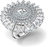 Swarovski Sparkling Dance Dial Up 5572515 - Anillo de baile (rodio), color blanco