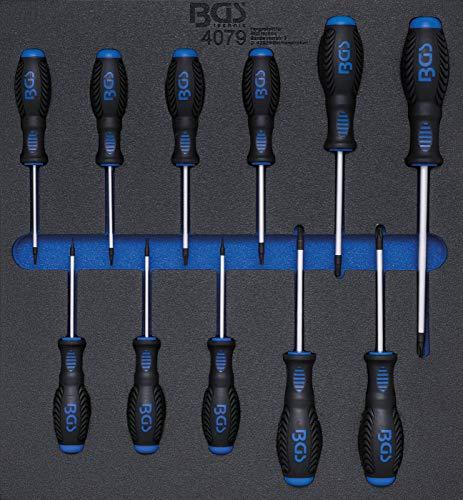 BGS 4079 | Insert de servante d'atelier 2/3 : Tournevis | Profil T (pour Torx) T6 - T40 | 11 pièces
