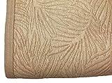 NORA HOME Colcha Piqué Palm Hojas de Jacquard. Todas Las Medidas Lino, 250x260 cm (Cama 150/160)