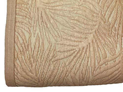 NORA HOME Colcha Piqué Palm Hojas de Jacquard. Todas Las Medidas Lino, 180x260 cm (Cama 90)