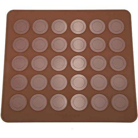 Moule de cuisson de tapis de silicone de macaron Moule de biscuit de chocolat de muffin de capacité de 30