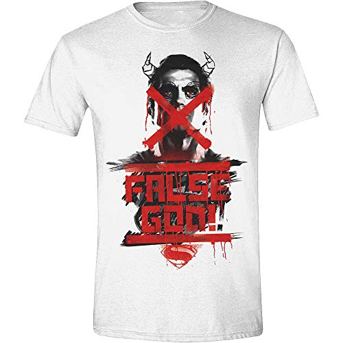 Batman V Superman - False God Poster White (T-Shirt Unisex Tg. S) (1 KLEDIJ)
