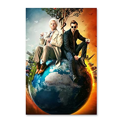 YEEWA Good Omen Movie Posters for Room Aesthetic 24x36inch(60x90cm)
