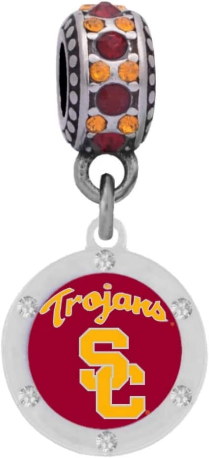 University of Southern Cal Crystal Fits Trust Pa Charm Compatible Save money With