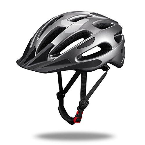 Fahrradhelm MTB Herren Mountainbike Helm für Mann Frauen Erwachsen Größe L (58-60cm) grau