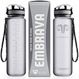 Embrava Best Sports Water Bottle - 32oz Large - Fast Flow, Flip Top...